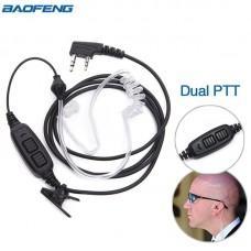 Гарнитура для Baofeng UV-82, GT-5, GT-5TP прозрачный воздуховод купить по лучшей цене